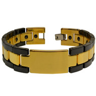 CURSUS Black & Yellow Ceramic Magnetic Ion 8.5 Inch Bracelet