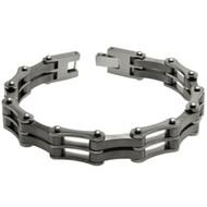 MACHINA Modern Chain Link Titanium 8.5 Inch Bracelet