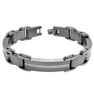 LATERALIS Modern Titanium Side Link 8.5 Inch Bracelet