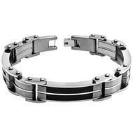 SINGULA RES Titanium Black Carbon Fiber Inlay 8.5 Inch Bracelet