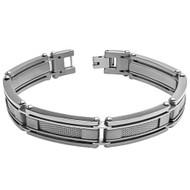 NECTO Titanium Wire Mesh Center 8.5 Inch Bracelet