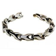 EMAGIO Tungsten Carbide Link Designer Bracelet