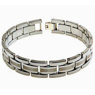 MEDIA CATENA Tungsten Carbide Link Designer Bracelet