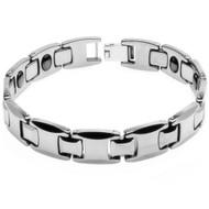 HUGIO Tungsten Carbide Link Desiger Bracelet