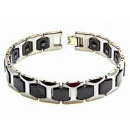 NOX Tungsten Carbide Two Tone with Magnetic Ion Bracelet
