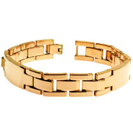 LATERES Tungsten Carbide High Polish Double-ID Link Bracelet
