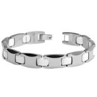 NINGO Tungsten Carbide & White Ceramic Men's Designer Bracelet