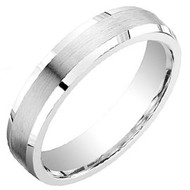 "Cobalt Chrome Wedding Band Ring ""5 mm"""