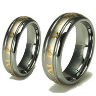 "His & hers Tungsten Set ""18k Gold"""