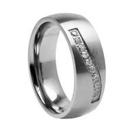 "Titanium Wedding Band Ring """