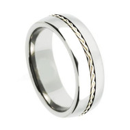 "Titanium ""Polished Wedding Band Ring"""
