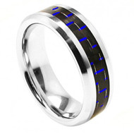 Polished Beveled Edge with Blue Carbon Fiber Inlay