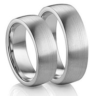His & Hers Dome Tungsten Ring Set
