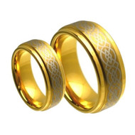 His & Hers Tungsten Carbide Scratch Resistant Rings Set