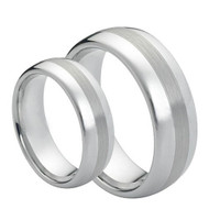 His & Hers ScratchResistant Tungsten  Ring's Set