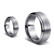 His & Hers Tungsten High Polished Rings Set