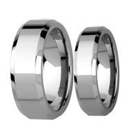 His & Hers High Polished  Tungsten Ring Set