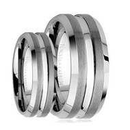 His & Hers Tungsten Carbide Ring Set