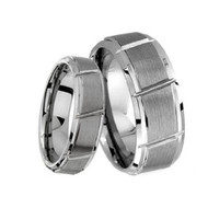 His & Hers Carbide Tungsten Ring Set