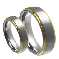 His & Hers Carbide Tungsten Rings Set