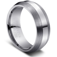 "Tungsten Ring ""Matt and high polish"""