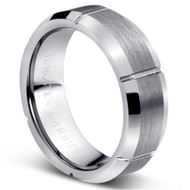 "TUNGSTEN RING ""MATTE & HIGH POLISH """