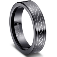 """Tungsten Ring """"Black High Polished"""""""