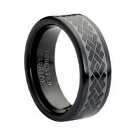 "Tungsten Ring "" Black High Polish"""
