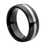 "Tungsten Ring Black ""High Polished """
