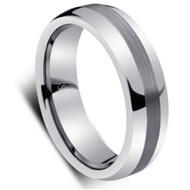 Tungsten Brushed Dome Ring