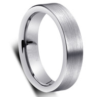 Tungsten Domed Brushed Ring