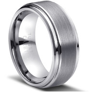 Tungsten Brushed Ring Brushed