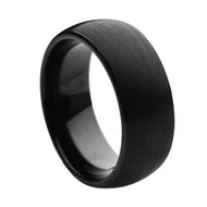 Tungsten High Polishe Brushed Ring