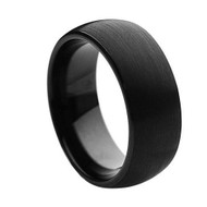 Tungsten Brushed High Polished  Ring