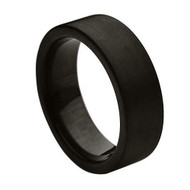 Tungsten Brushed High Polish Ring