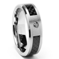 Diamond Tungsten Ring With Carbon Fiber