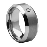 Diamond Tungsten  Men's Carbide Wedding Ring