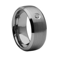 Diamond Tungsten Ring Mens Wedding Ring