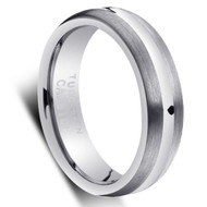 "Tungsten Ring "" Matte and polished """