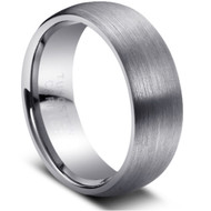 "Tungsten Ring "" Matte Finished"" comfort fit wedding band"