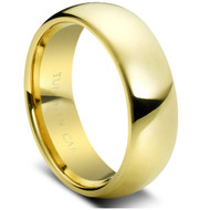 "Tungsten Ring "" Gold High Polished"""