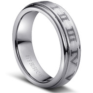 "Stunning TUNGSTEN RING "" Matte & High polished"""