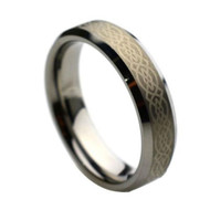 Laser Engraved Caltic Tungsten Rings