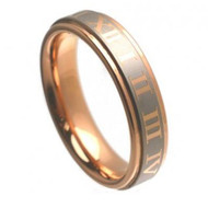 "TUNGSTEN RING ""Matte & High polished"" Rose Gold"