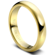 Gold Tungsten Domed Ring