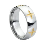 "Tungsten Ring Gold "" High Polished """