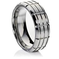 Grooved Tungsten Ring high grade cobalt-free Tungsten Carbide
