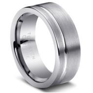 "Tungsten Ring "" Matte Finished"" wide Comfort Fit Tungsten"