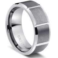 "TUNGSTEN Polish RING "" Matte & High polished"""