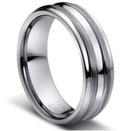 "TUNGSTEN RING""MATTE & HIGH POLISHED"""